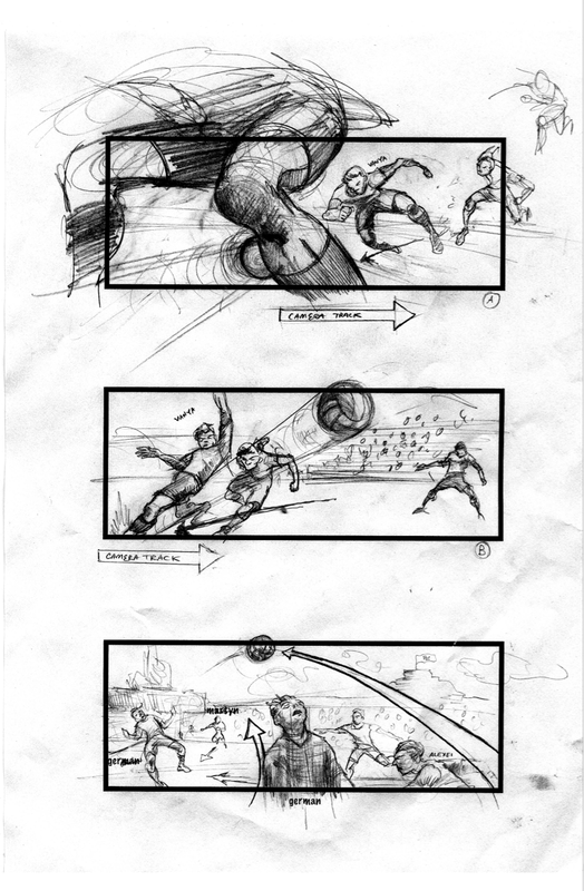 The FC Start Movie Early Deathmatch Storyboards